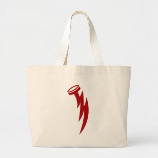 Lightning Bolt Nail Icon Jumbo Tote Bag
