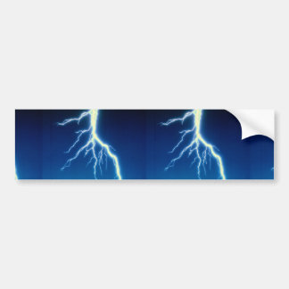 Lightning bolt over blue background bumper sticker