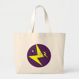 lightning bolt selfie jumbo tote bag