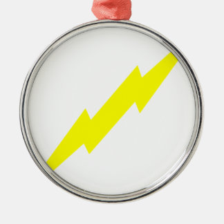 Lightning Bolt Silver-Colored Round Decoration