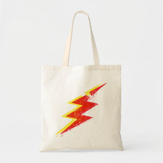 Lightning bolt budget tote bag