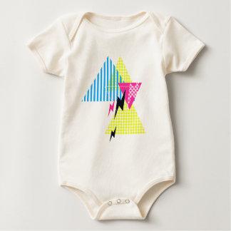 Lightning Bolt Triangle Flash 80's Baby Bodysuit