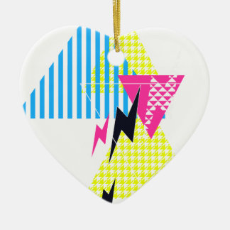Lightning Bolt Triangle Flash 80's Christmas Ornament