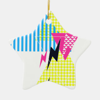 Lightning Bolt Triangle Flash 80's Christmas Ornament