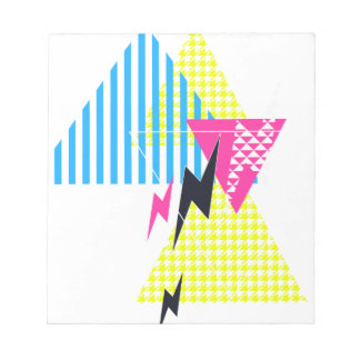 Lightning Bolt Triangle Flash 80's Notepad