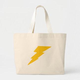 Lightning Bolt, yellow, thunder, storm, superhero Jumbo Tote Bag