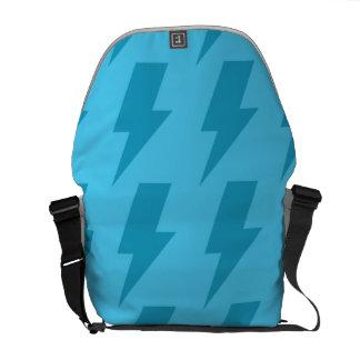 Lightning bolts blues commuter bags