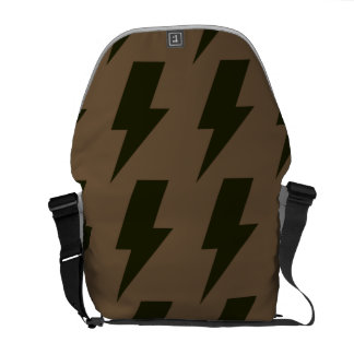 Lightning bolts brown black courier bags