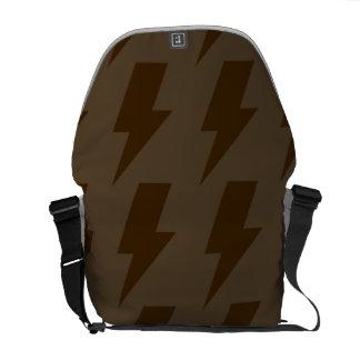 Lightning bolts browns messenger bags