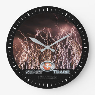 Lightning bolts Business Acrylic Wall Clock
