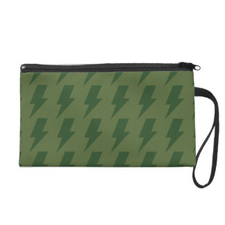 Lightning bolts greens wristlet purses
