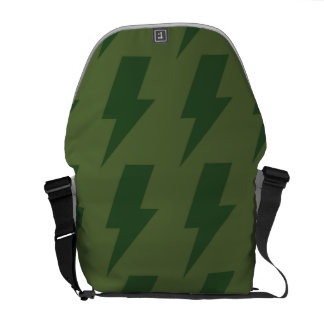 Lightning bolts greens courier bags