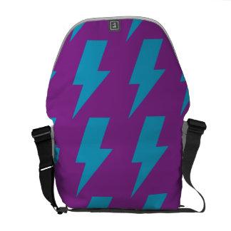 Lightning bolts magenta cyan commuter bags