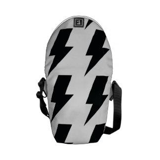 Lightning bolts courier bag