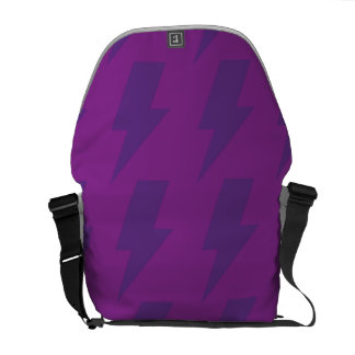 Lightning bolts purple courier bags
