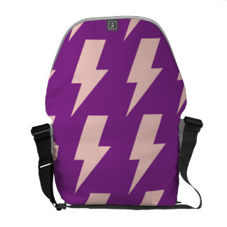 Lightning bolts purple pink commuter bag