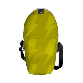 Lightning bolts yellows courier bag