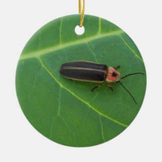Lightning Bug on Leaf Christmas Ornament