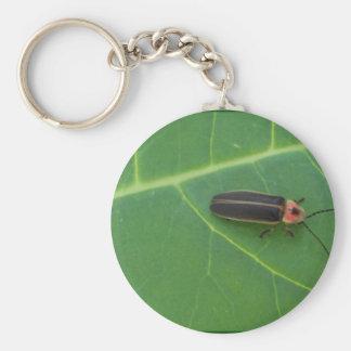 Lightning Bug on Leaf Key Chain