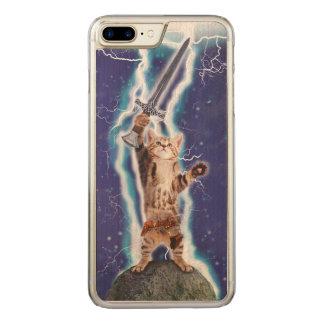 Lightning Cat Carved iPhone 8 Plus/7 Plus Case