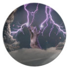 Lightning cat--kitty-pet-feline-pet cat -kittens plate