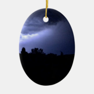 Lightning Ceramic Oval Decoration