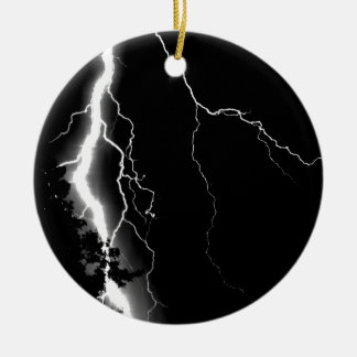 Lightning. Christmas Ornament
