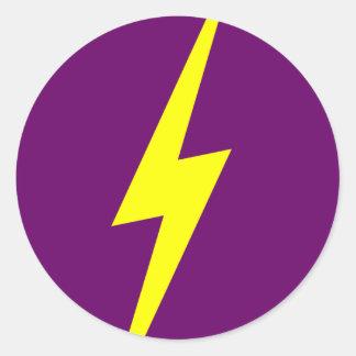 lightning classic round sticker