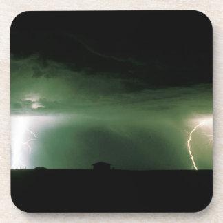 Lightning. Drink Coaster