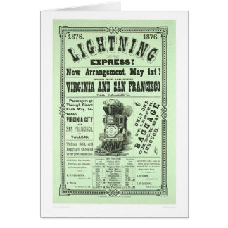 Lightning Express! (1831A) Greeting Card