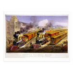 Lightning Express: An American Train Scene Post Card