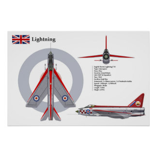 Lightning F1A 56 Squadron Poster