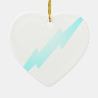 Lightning Flash Ceramic Heart Decoration