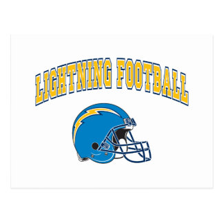 Lightning Football Postcard