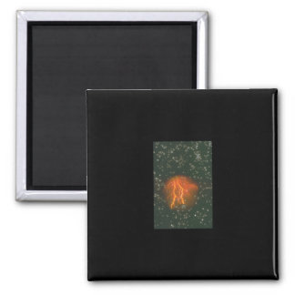 Lightning in Space. (galaxy_Space Scenes Square Magnet