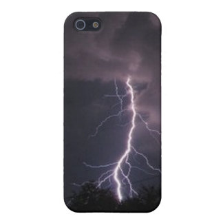 Lightning in the Night Sky iPhone 5 Case