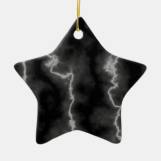 Lightning Marble Christmas Ornament