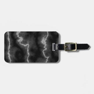 Lightning Marble Luggage Tag