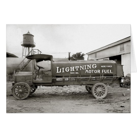 Lightning Motor Fuel Truck, 1920 Card