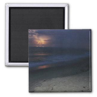 Lightning on beach magnet