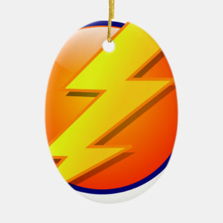 lightning orb energy icon vector christmas ornament