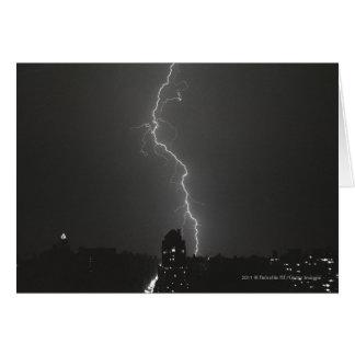 Lightning over city card