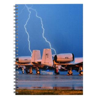 Lightning over fighter Jets Notebook