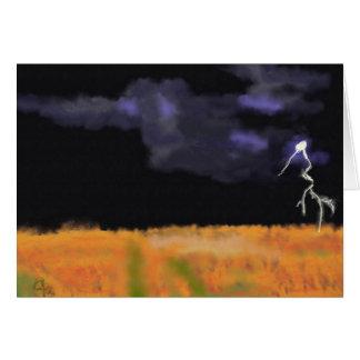 Lightning Over Land Art Card