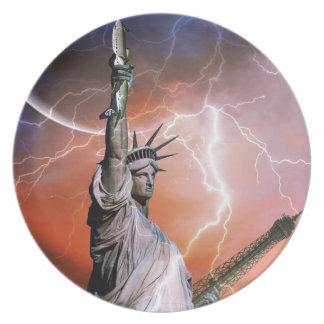 Lightning over Liberty Plate