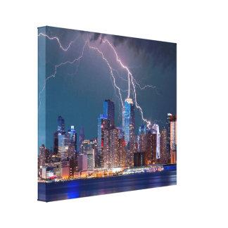 "Lightning over ""New York City"" Skyline Wall Art"