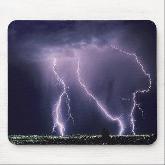 Lightning over Salt Lake Valley, Utah. Mouse Mat