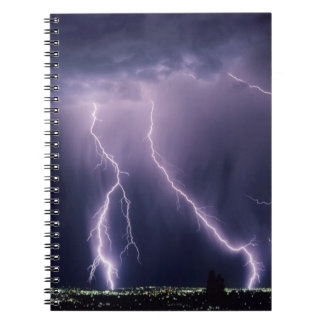 Lightning over Salt Lake Valley, Utah. Notebooks