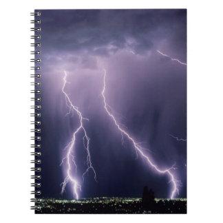 Lightning over Salt Lake Valley, Utah. Notebooks