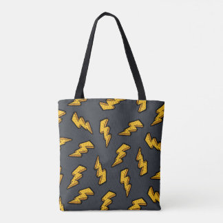 Lightning Pattern Tote Bag